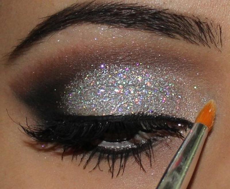 olhos glitter