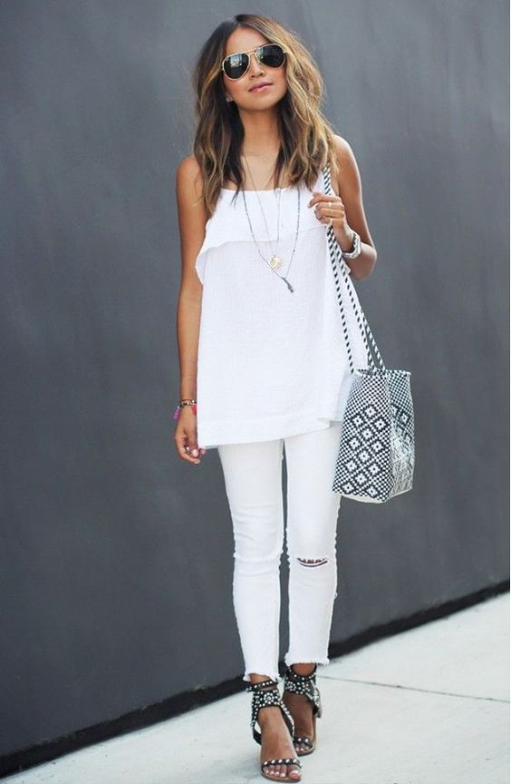 jeans branco total white/pinterest
