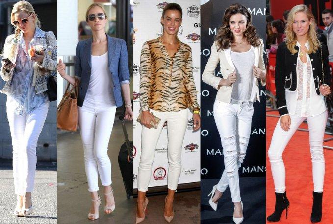 jeans branco