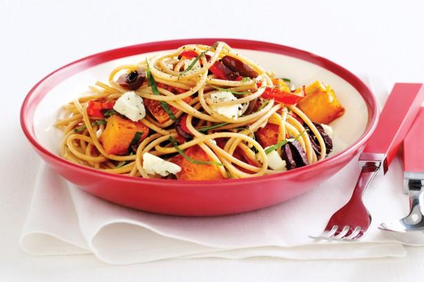 spaguetti com legumes