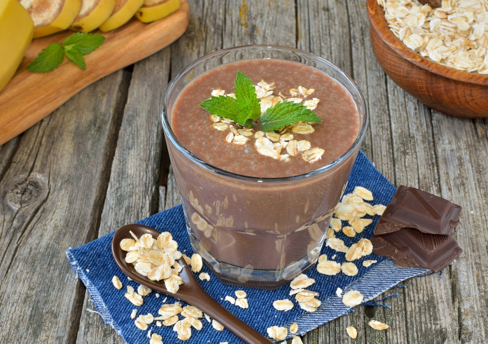 shake chocolate com aveia
