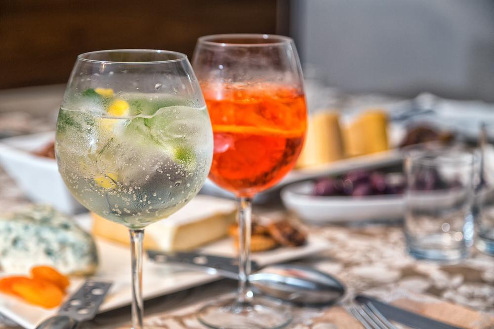 gin tonica e aperol spritz